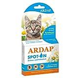 ARDAP Spot On - Zecken & Flohschutz für Katzen bis 4kg - Natürlicher Wirkstoff - 3 Tuben je 0,4ml - Bis zu 12 Wochen nachhaltiger Langzeitschutz